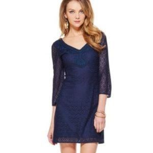 Lilly Pulitzer lace dress/Alden in navy